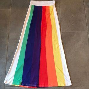 🌈 Amazing rainbow maxi skirt size XS 🌈